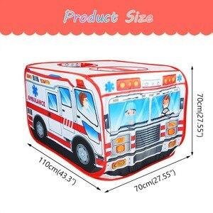 Image 5 - Детская игровая палатка, игрушечная Игровая палатка для машины скорой помощи, Игровая палатка для дома и улицы, детская игровая площадка, Игровая палатка