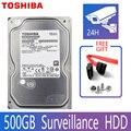 TOSHIBA 500GB жесткий диск видеонаблюдения DVR NVR CCTV монитор HDD HD Внутренний SATA III 6 ГБ/сек. 5700 об/мин 32MB 3,5