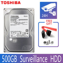 Toshiba 500gb de vigilância por vídeo disco rígido dvr nvr cctv monitor hdd hd interno sata iii 6 gb/s 5700rpm 32mb 3.5