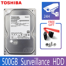 TOSHIBA 500GB Video Surveillance Hard Drive Disk DVR NVR CCTV Monitor HDD HD Internal SATA III 6Gb/s 5700RPM 32MB 3.5