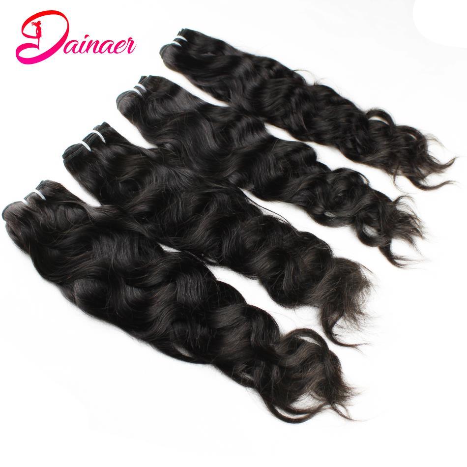 Бразильские волосы естественная волна двойные вытянутые человеческие волосы пряди 3/4 шт вплетаемые волосы пряди 100% человеческие волосы бе...