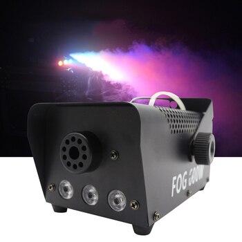 Free Shipping Disco RGB Mixed LED Smoke Machine Mini Remote Control Fogger Projector DJ Christmas Home Dance Party Fog Machine