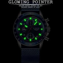 LIGE 2019 Blue Fashion Mens Watches Top Luxury Brand Men Sports Watches Men's Quartz Clock Male Full Steel Military Wrist Watch