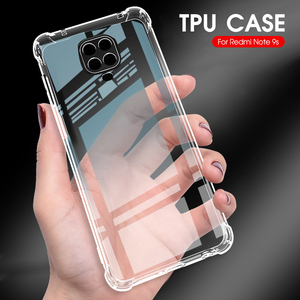 Silicone TPU Case For Xiaomi Redmi Note 9 Pro Shockproof Cover For Redmi Note 8 8T 8 Pro 9S 9 Pro Max 8A Transparent Phone Capa