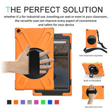 For Fire HD 10 2017/2019 Heavy Duty shock-proof Case Cover Stand+Shoulder Strap(China)