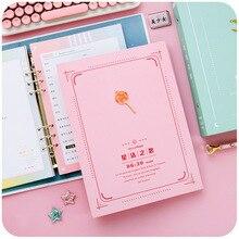 Креативная книга для девочек с сердцем из алюминия, 16 K, листочка в Корейском стиле, хипстерская маленькая фея, для молодых студентов, для выпускного, милая, свободная, листочка, Примечание