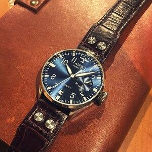 Image 4 - 2019 nuovi orologi da pilota automatici da uomo diametro 41.5mm vetro zaffiro 50m orologio da polso da uomo impermeabile in acciaio inossidabile di moda