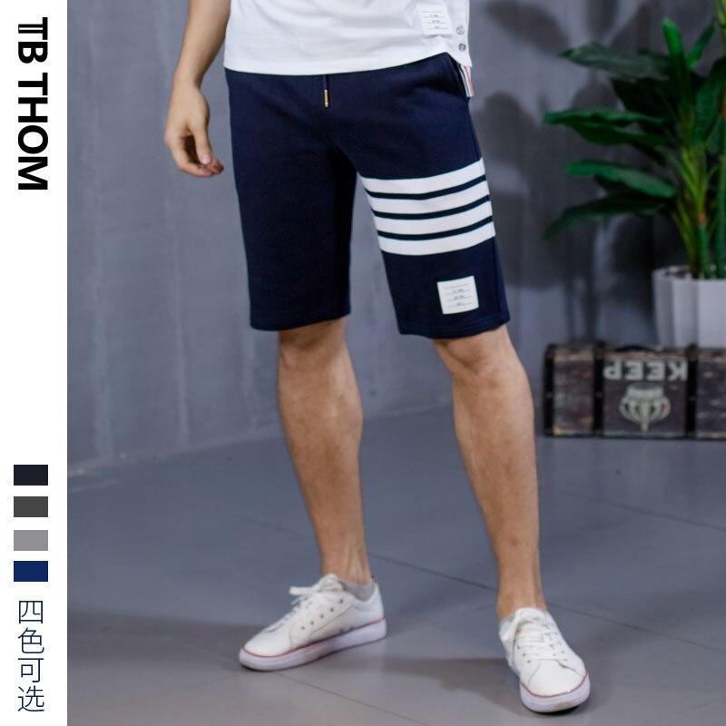 2020 Men's Dyed Casual Summer Sport Shorts Men 100% Cotton Contrast Color Beach Short Pants For Male