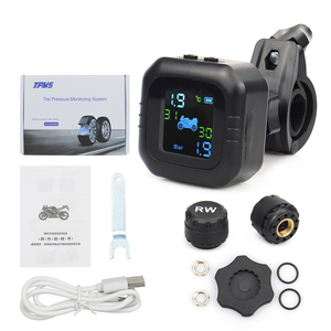 Image 3 - 2021 USB Solar Charging Motorcycle TPMS Motor Tire Pressure Tyre Temperature Monitoring Alarm System with 2 External Sensors