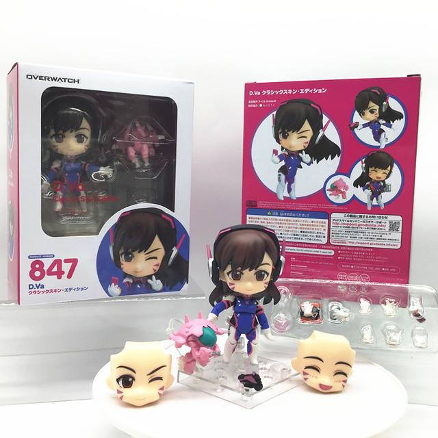 Overwatches D.Va 847 # Figures Song Hana Classic Skin Edition Changeable Face Doll Action Figures Collectable Model Toy Gifts