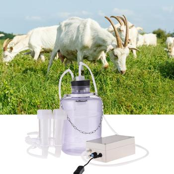 3L 12W Electric Milking Machine Cow Goat Sheep Milker Thickening Tank Double Heads Silicone Hose With Restriction Valve