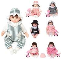 REAL FUNCTION 47cm doll reborn babies Full Silicone Bebe Reborn Doll Newborn Baby Dolls Lifelike Menino dolls for baby girls