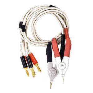 ¡TOP!-1 par de clips aislantes de banana, cable de baja resistencia, LCR Clip, sonda, cables, medidor de prueba, Terminal Kelvin, nuevo