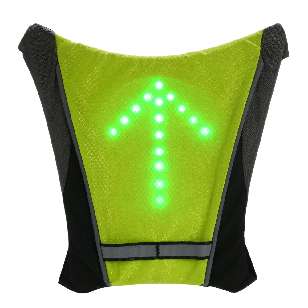 Lixada LED Signal Light USB Rechargeable Reflective Backpack Attachment Clip Remote Control For Cycling Running Walking Jogging