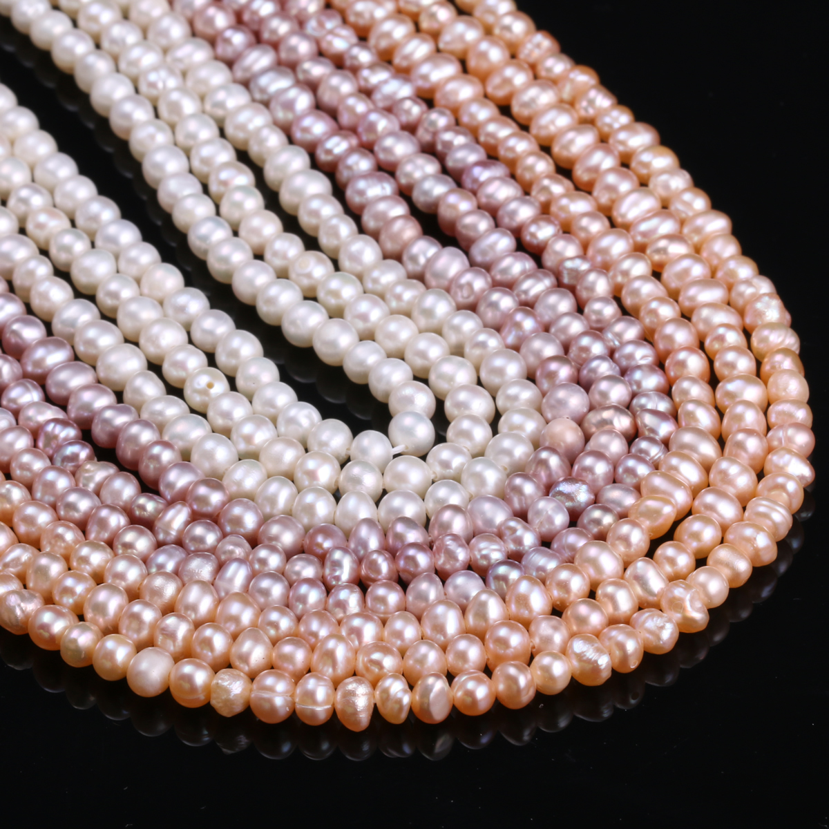 Natural Freshwater Cultured Pearls Beads Round 100% for Jewelry Making Necklace Bracelet 13 Inches
