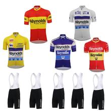 2019 cycling Jersey set Men DH MTB short sleeve bike wear jersey set bib shorts gel pad ropa Ciclismo red yellow white clothing стоимость