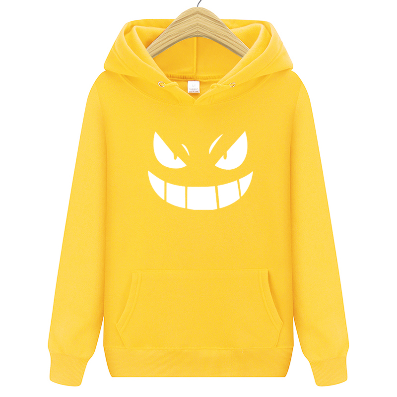 2020 Men's New Arrival Brand Hoodies  Printed Pokemon Go Pocket Monster Gengar Pullover Hoodie Sweatshirts Casual Fitness Hoody 2