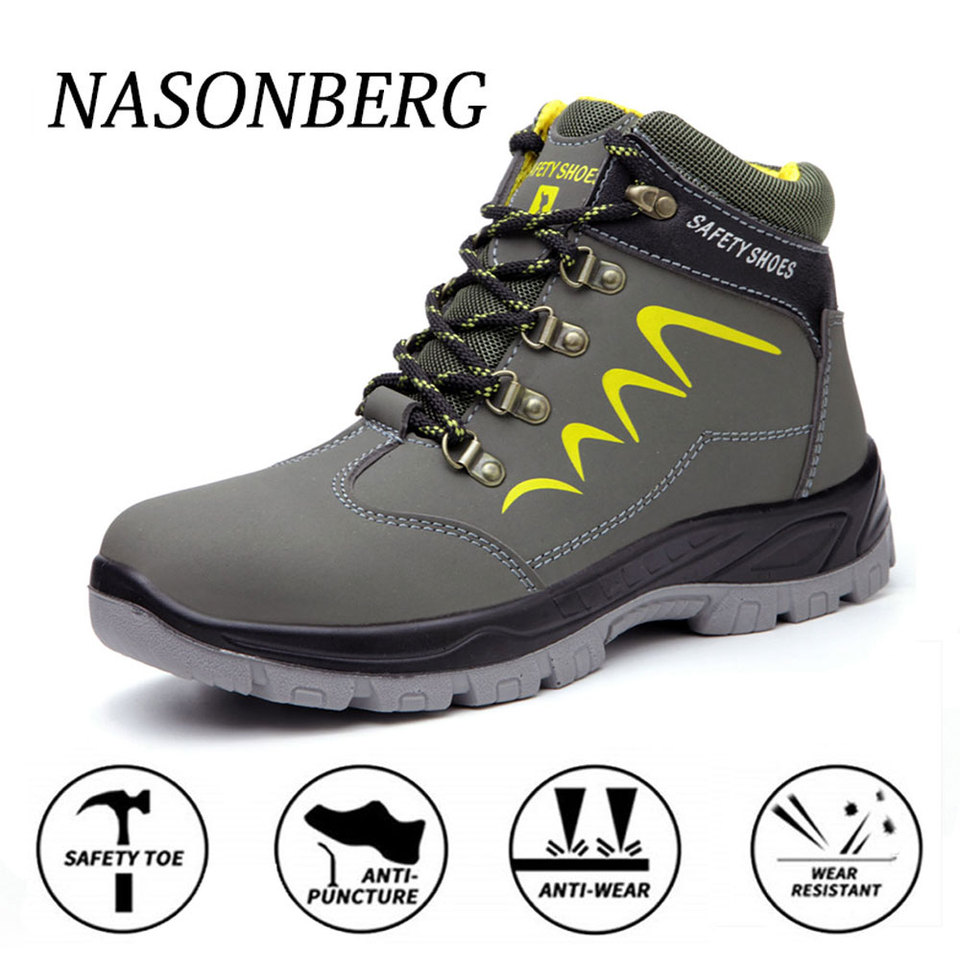 NASONBERG Construction Work Shoes Steel