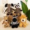 25cm 35cm Super Cute Stuffed Toys for Kids Sleeping Mate Jungle Animals Dolls Elephant Dog Tiger Fox Lion Giraffe Raccoon Monkey 1