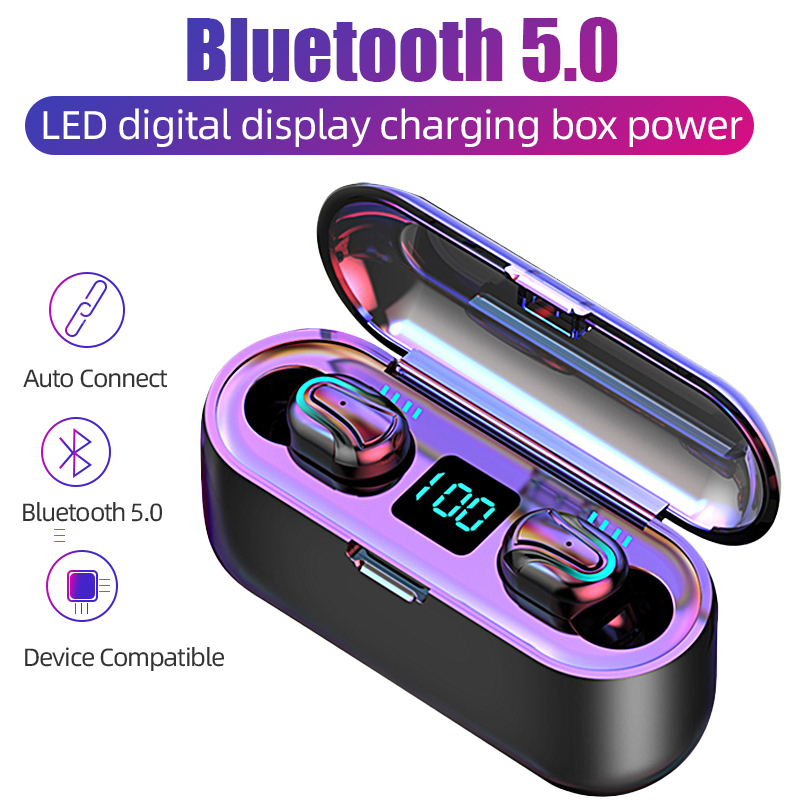 Wireless Bluetooth Earphones Headphones With 2000mAh Charging Case LED Display TWS Wireless Headphone Headset For Phone With Mic