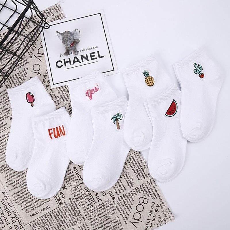 Children's cotton socks Cute Cartoon fruit embroidery socks comfortable cartoon socks kids socks Children's socks baby socks 2