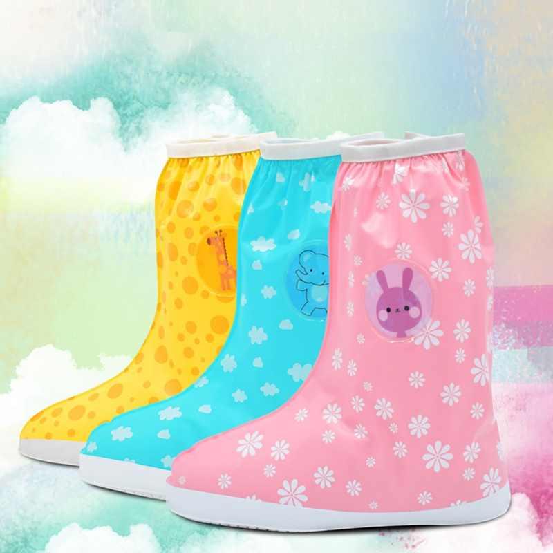 Çizmeler Çocuklar Ayakkabı Kapakları Moda Çocuk Su Geçirmez Ayakkabı Kapağı yağmur çizmeleri Bebek Plastik yağmur ayakkabısı kılıfları kızlar için