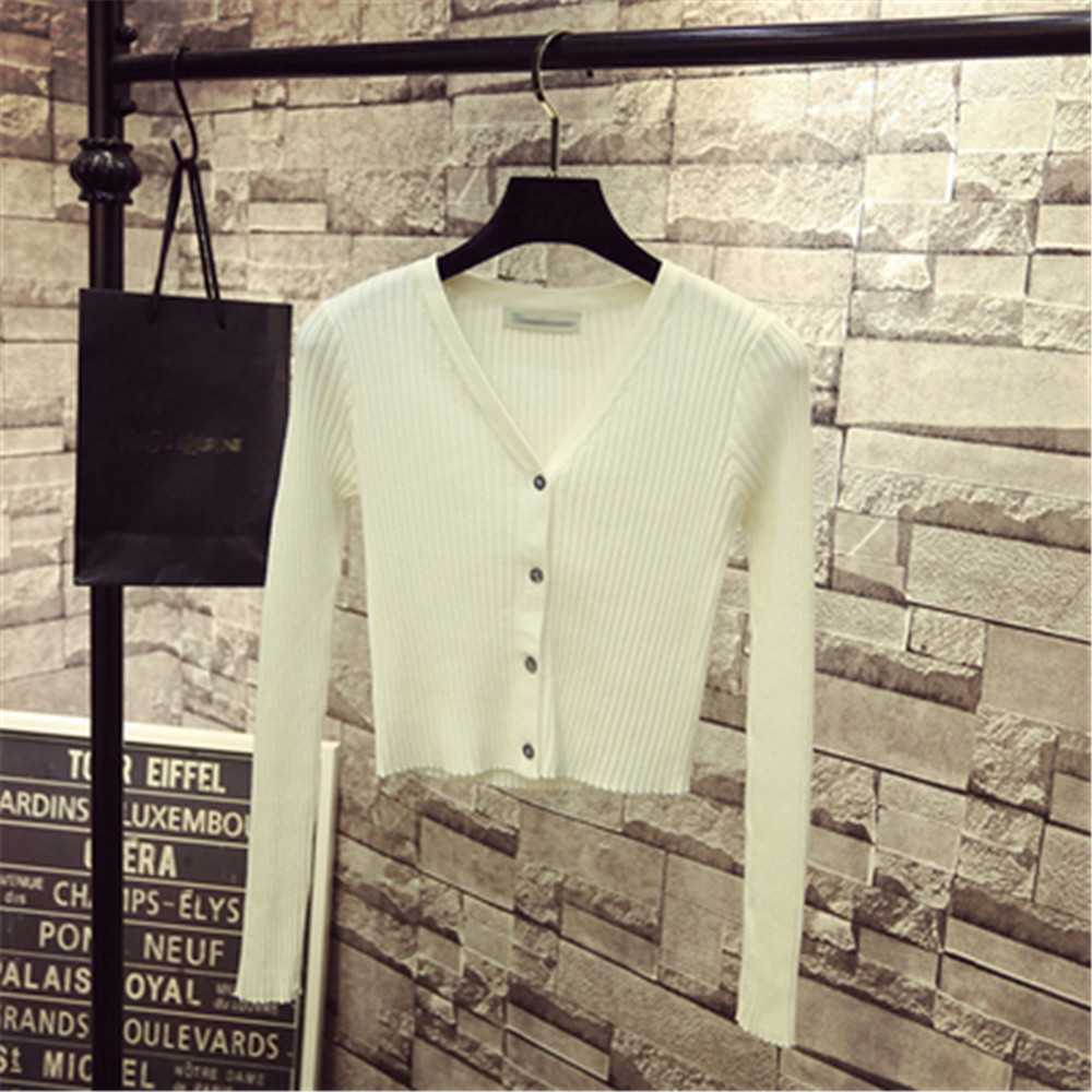 Korean Fashion Spring Newly Patchwork Sweaters Women Cardigans 2020 Slim Ladies Knitted Sweater Long Sleeve Buttons Sweater 1540 3