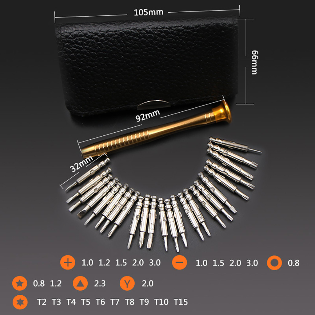 25 PC Precision Multifunction Small Screwdriver Set With Slotted Phillips Bits For Watch Glasses Screw Driver Repair Tools 35