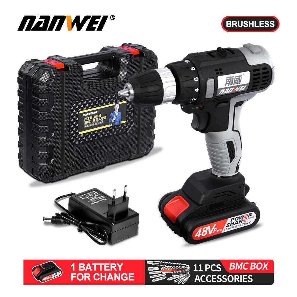 21V Brushless Motor Cordless Screwdriver Extraordinary Power Drill Iron Like Mud