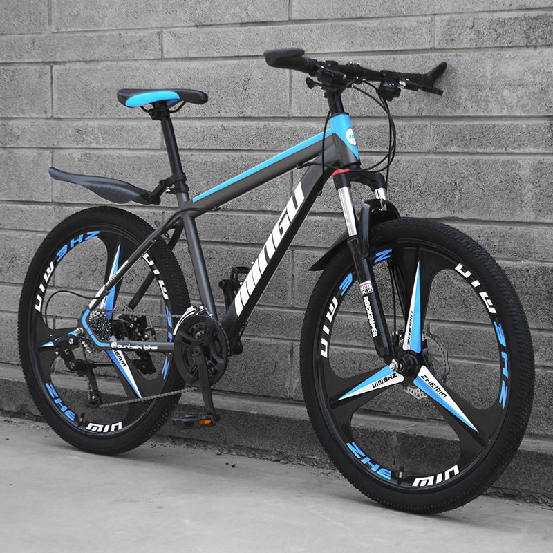 Mountain Bike Shifting Three-knife Wheel Off-road Double Disc Brakes Oil Brake Shock Absorber Road Racing Student Adult