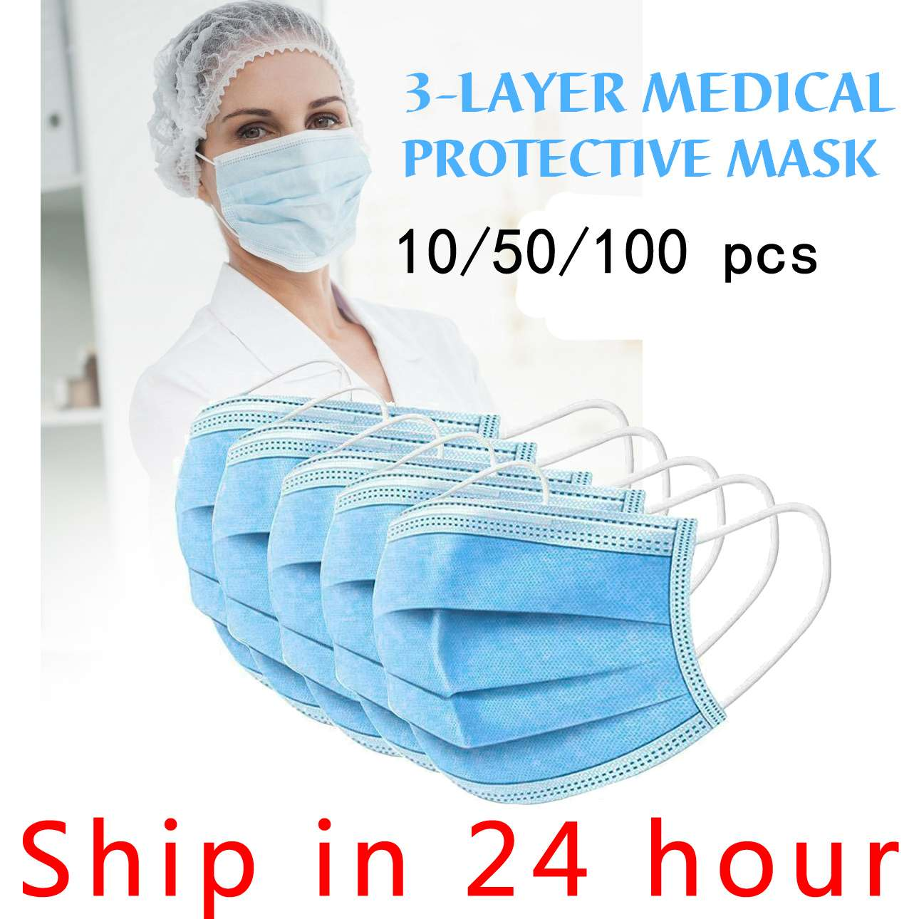 Fast Delivery Disposable Mask Mouth Face Mask 95% Filtraion Cotton Mouth Masks Anti-Dust Filtration Against
