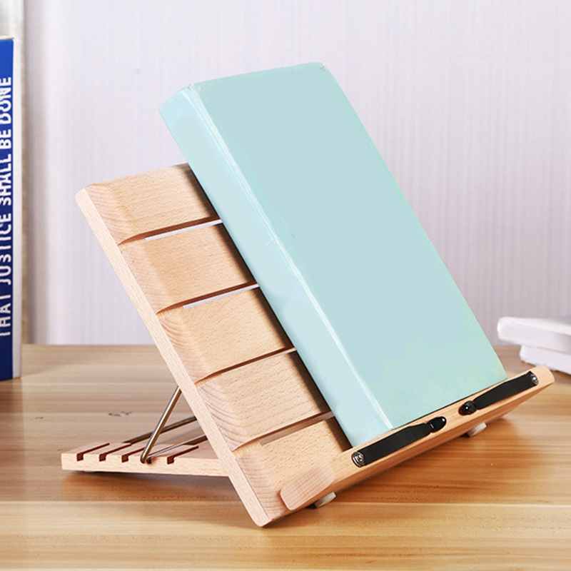 Botique-Portable Desktop Wooden Reading Stand Student Child Adult Book Reader Reading Stand Bookshelf Music Stand