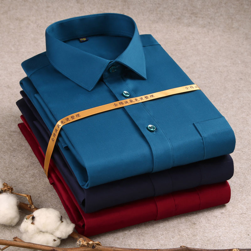 2020 Luxury 100% Cotton Formal Long Sleeve Men's Dress Shirt