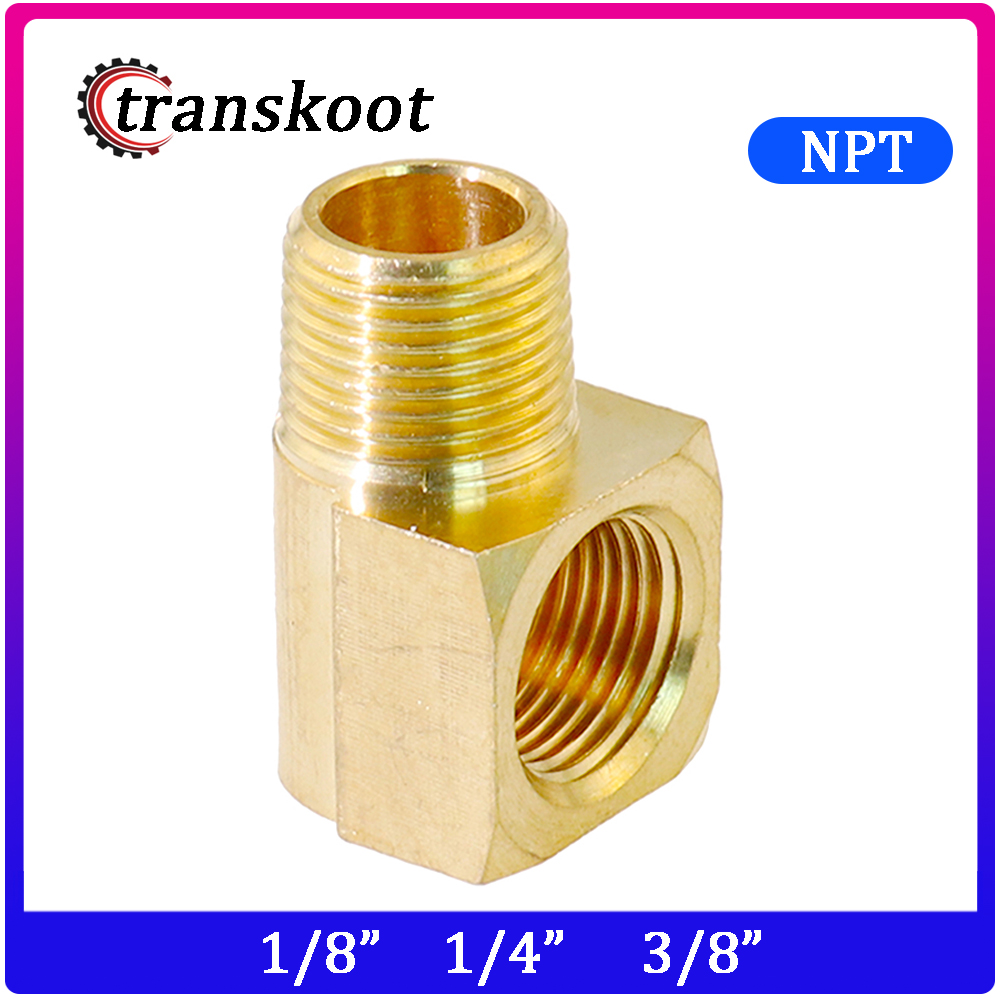 Metal Brass Pipe Fitting, 90 Degree Barstock Street Elbow, 1/8