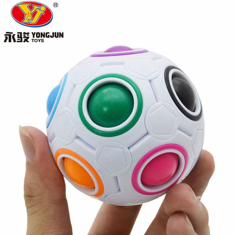 Радужные шары мудрости YongJun YJ, футбольный магический куб, игрушки для детей, подарки, обучающая игрушка, головоломки, игры, магический куб для обучения
