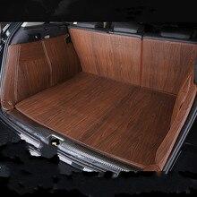 Full Covered Wood Grain Waterproof Boot Carpets Durable Custom Car Trunk Mats for Mitsubishi ASX Pajero Outlander Grandi Lancer цена и фото