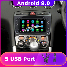 5 USB порт PX6/Восьмиядерный Android 9,0 автомобильный dvd-плеер для peugeot 408 2010 2011 peugeot 308 2008 2009 2011 Автомобильный Радио gps DSP