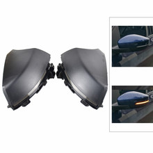 цена на 2PCS Dynamic Blinker Turn Signal Sequential Side Rearview Mirror Indicator LED Light For Volkswagen VW Polo Mk5 6R 6C