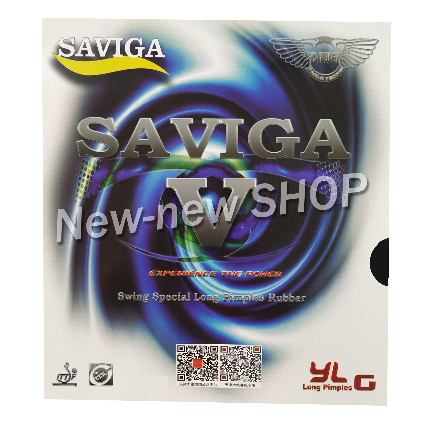 SAVIGA V Long Pips-Out Table Tennis Rubber Without Sponge