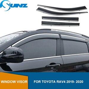 Deflectores de ventana lateral para TOYOTA RAV4 2019 2020 altamente transparente Escudo del tiempo ventana Visor Deflector de lluvia y sol protectores SUNZ