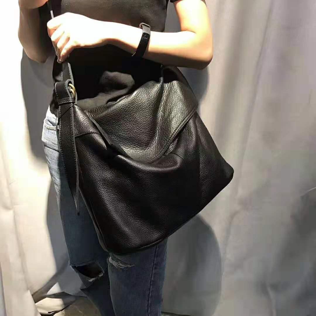 100% genuíno couro das mulheres mensageiro sacos