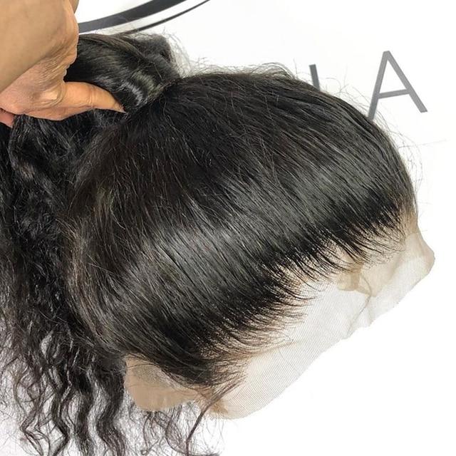 13x6 תחרה מול שיער טבעי פאות Loose עמוק גל Glueless מלא תחרה פאה 360 תחרה פרונטאלית פאה מראש קטף עם תינוק שיער 150% רמי