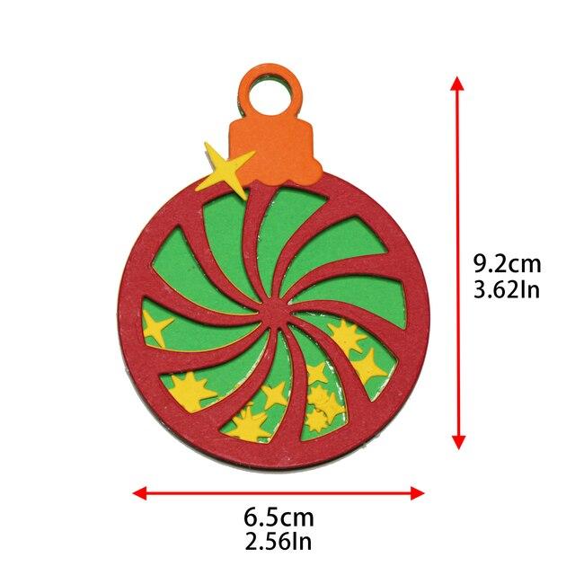 Boże narodzenie mięta pieprzowa cukierki Shaker metalu wykrojniki dla diy scrapbookingu kart dekoracyjne Craft szablon do wytłaczania Cut urodziny prezent