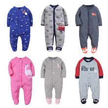 Brand 2017 fashion baby pajamas & sleepwear baby clothing baby boys clothes for girls rompers 100% cotton baby rompers newborn цены