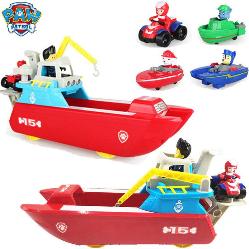 Paw Patrol Ship Patrulla Canina Ferry Yacht Marine Rescue Vessel Anime Action Figure Toys For Children Christmas Gift 2D60