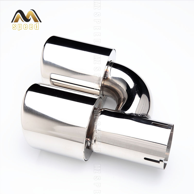 Accessories stainless steel black and bright face without marked H-type double outlet straight edge exhaust pipe tailpipe