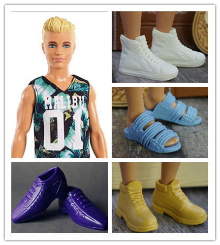 New 1Pair Fashion Doll Shoes Sneakers Shoes For Ken Male Dolls Accessories For Barbie Boyfriend Ken