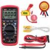 Multimètre numérique à unité portable UT139C, plage automatique, True RMS, testeur de condensateur, voltmètre de température 6000