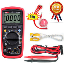Multímetro digital ut139c com gama automática, multímetro digital autêntico, unidade rms, testador de mão, UNI-T de contagem de temperatura