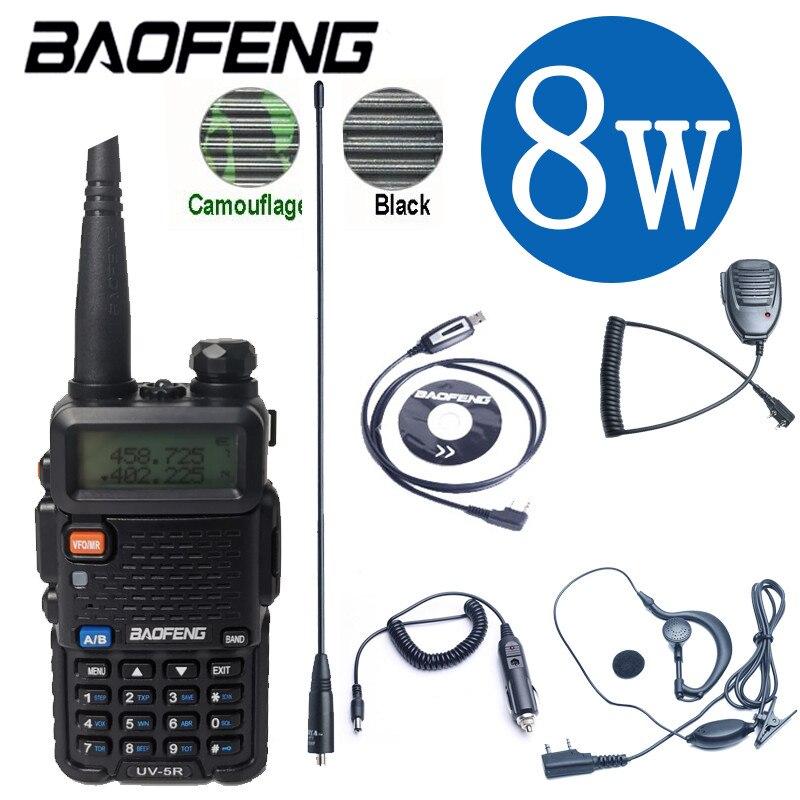 Baofeng Uv 5R ווקי טוקי 10 קילומטר אמיתי 8W דו דרך רדיו UV-5R Draagbare רדיו חם UV5R ווקי-טוקי Fm משדר חובב רדיו